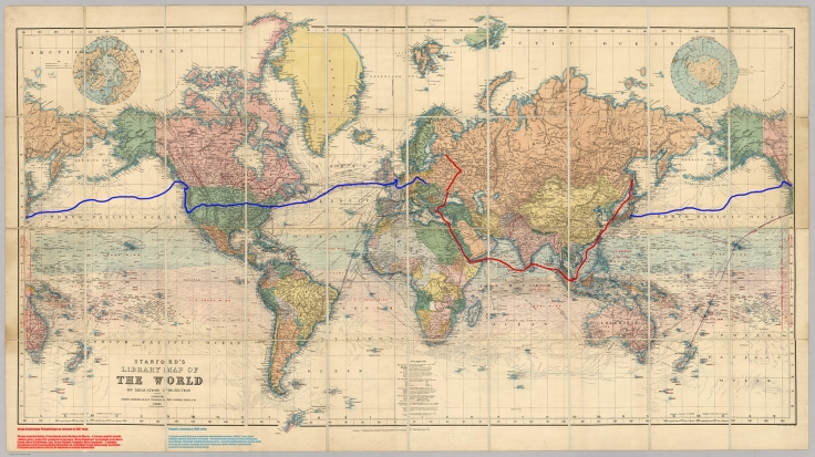 mapa podrozy Bronisława mala